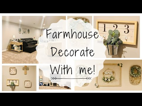 ✨FARMHOUSE DECORATE WITH ME | FARMHOUSE DECORATING IDEAS | FARMHOUSE DECOR | FARMHOUSE STYLE✨