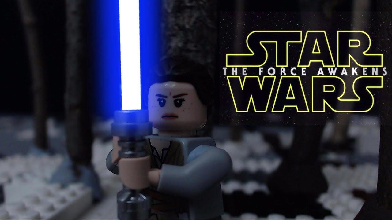 Lego Star Wars The Force Awakens Rey And Finn Vs Kylo Ren Youtube