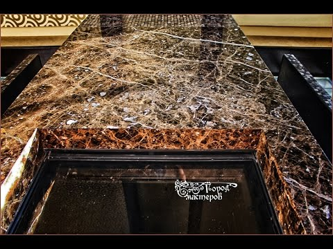 Наши работы: Камин из мрамора (Dark Emperador, Испания)