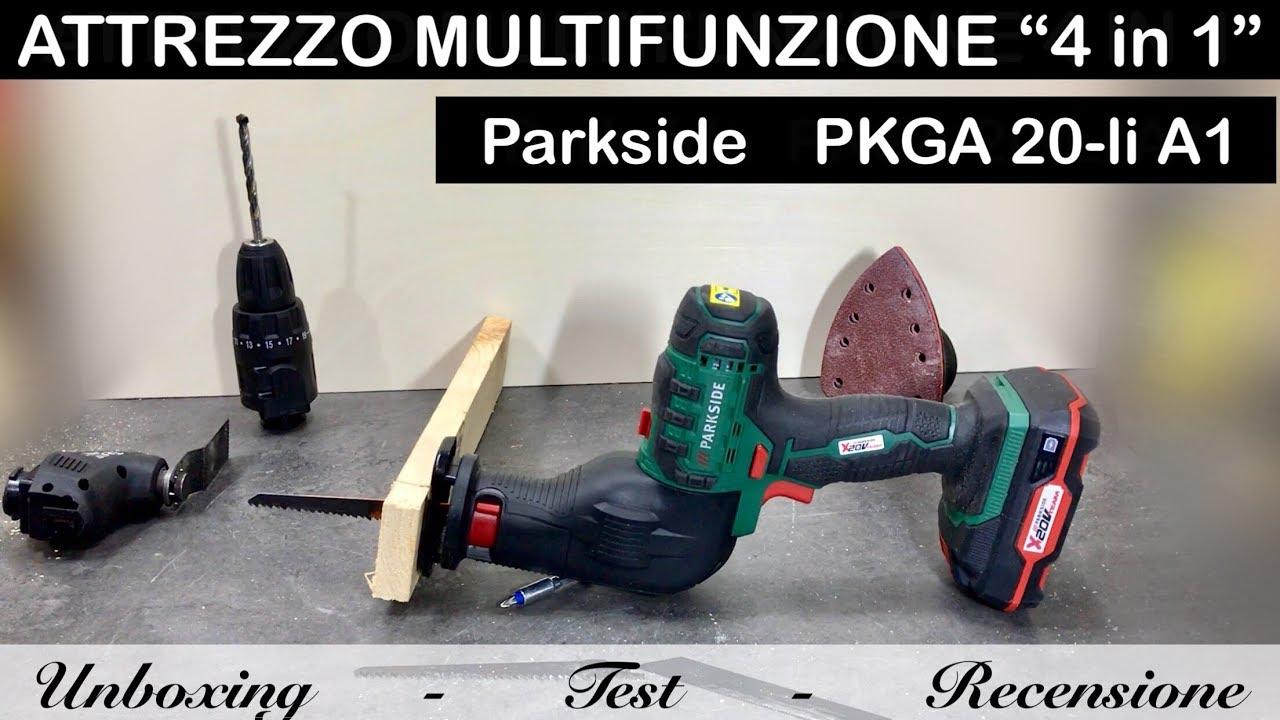 attrezzo 20v multifunzione 4 in 1 parkside lidl pkga 20