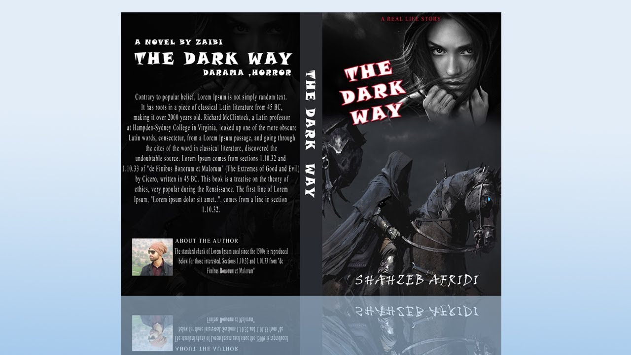 Book Cover Psd Tutorial ~ How to design a book cover in photoshop
