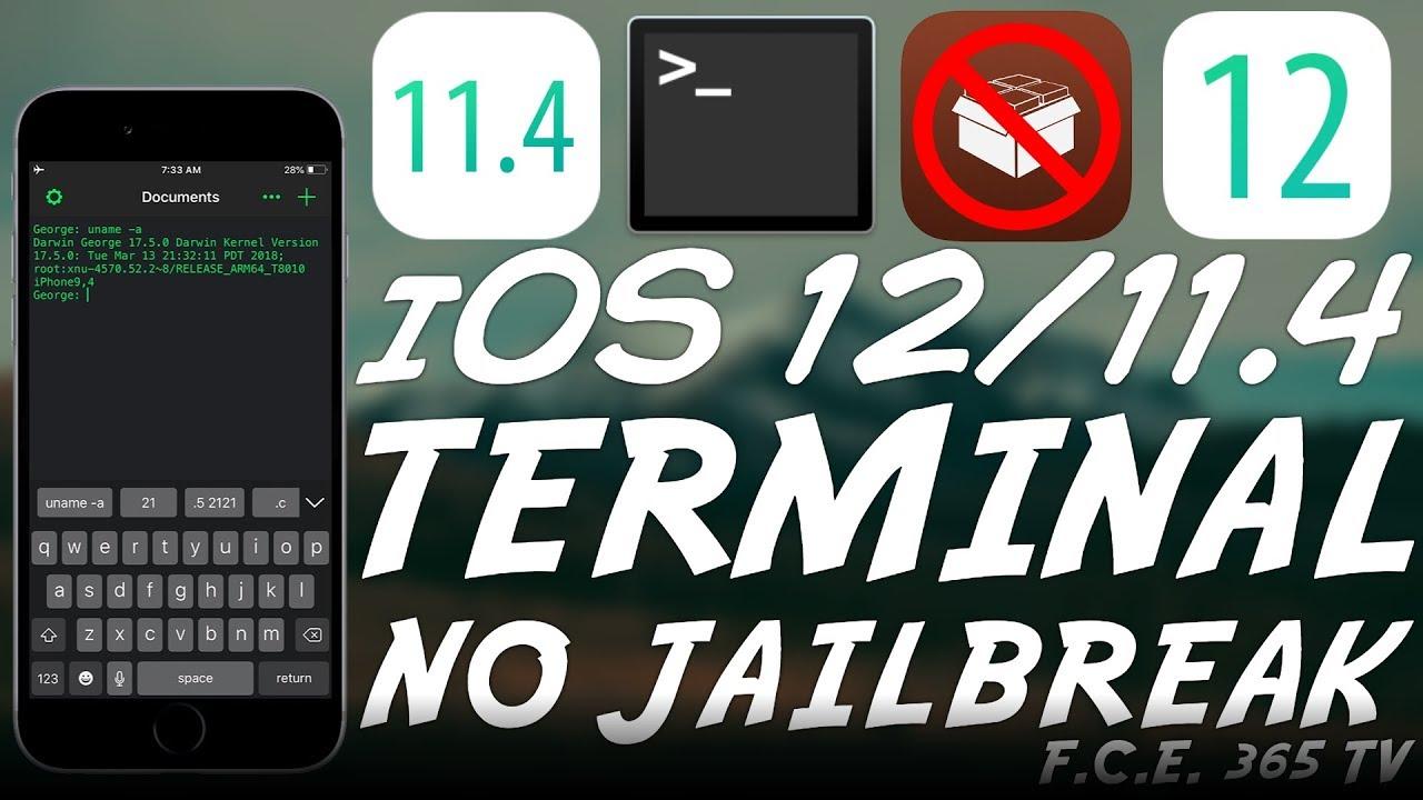 iOS 12 / iOS 11 4 1 / 11 4 Full TERMINAL With SSH and Scripting (NO  Jailbreak)