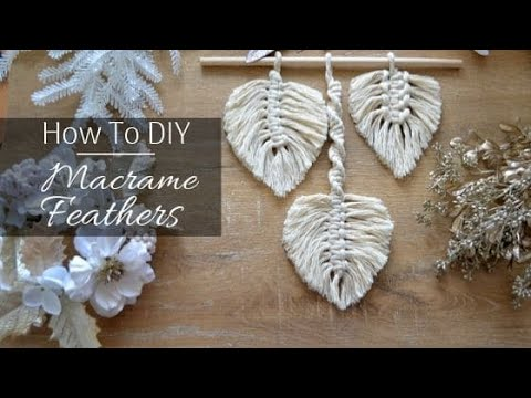 🏵️ 3 Different Types of Macrame Feather Patterns You Can Use for Your Wall Hanging Projects