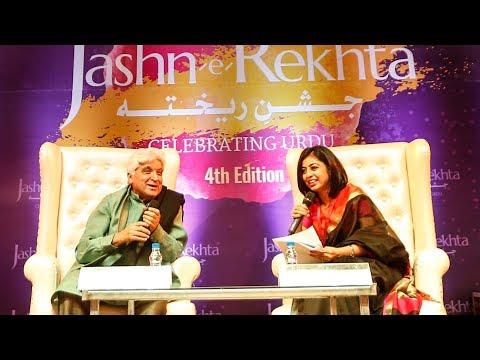 Kuch Ishq Kiya Kuch Kaam Kiya | Javed Akhtar at Jashn-e-Rekhta 4th with Atika Ahmad Farooqui