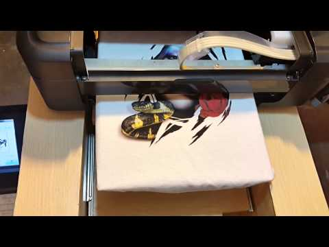 Homemade DTG printer. - YouTube