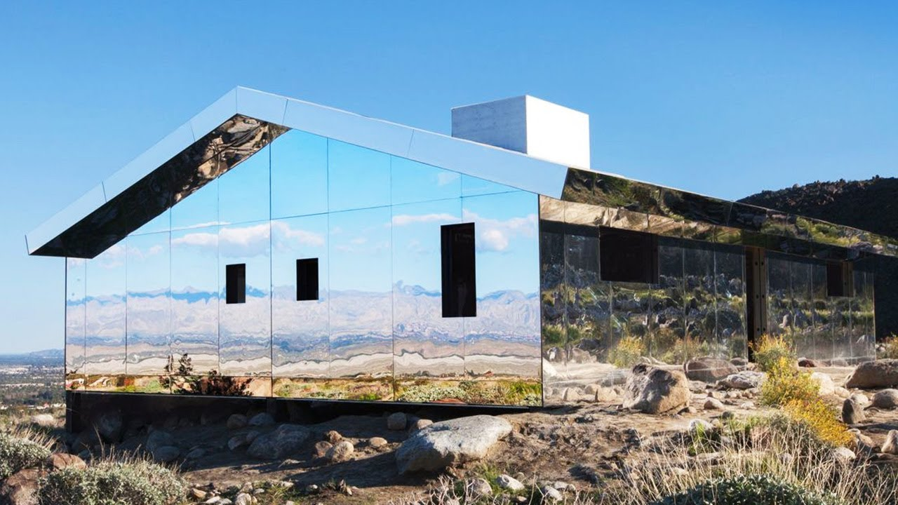 Unusual INVISIBLE House Made Out Of Mirrors - YouTube