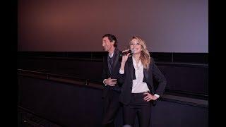 Alexandra Dinu și  Adrien Brody la Cinema City Romania