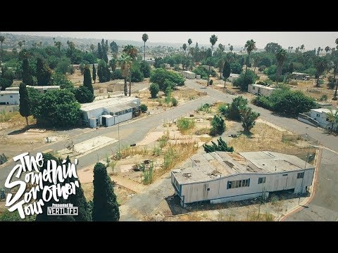 Abandoned TRAILER PARK In San Diego With DRUGS AND BODYBAGS AND KNIVES AND PLAYBOYS