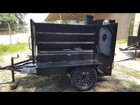 Smoke House BBQ Smoker Trailer Catering Grill Football Party FOR SALE Smoker BBQ Pit - YouTube