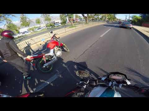 GoPro | Daily ride in santiago, Chile | Yamaha FZ | Motorcycle crash