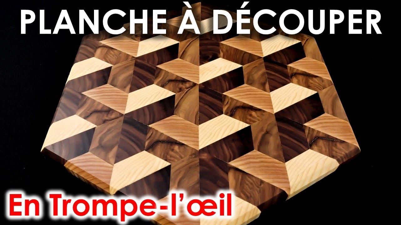 ILLUSION D'OPTIQUE dans une PLANCHE À DÉCOUPER !! (TUTO COMPLET, 100% DIY)