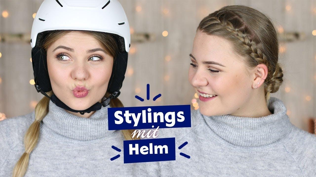 Skifahrfrisuren Stylings Mit Helm I Dominokati Youtube