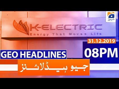 Geo Headlines 08 PM | 31st December 2019