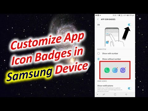 Customize App Icon Badges In Samsung Device