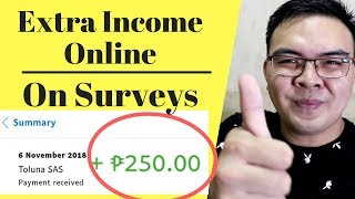 Earn Money Online 250 to 500 pesos Doing Surveys Philippines - Toluna