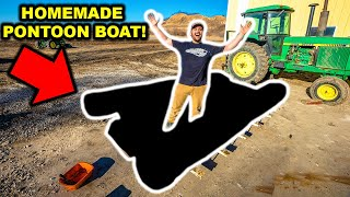 Building a DIY Homemade PONTOON BOAT!!! (Part 1)