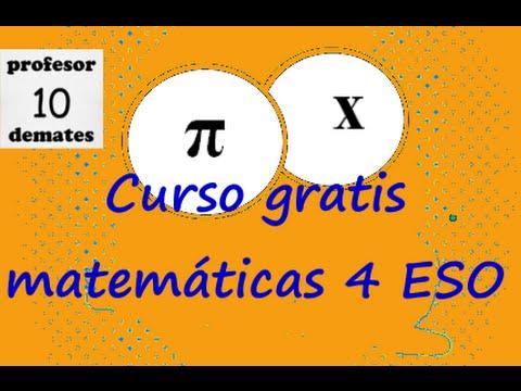 Matemáticas 4 ESO CURSO GRATIS - YouTube