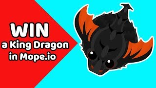 How to GET a KING DRAGON by luck in Mope.io