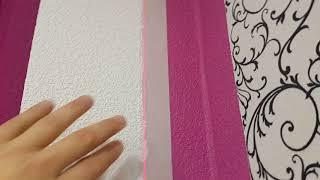 Идеальный стык краски на рефленых обоях