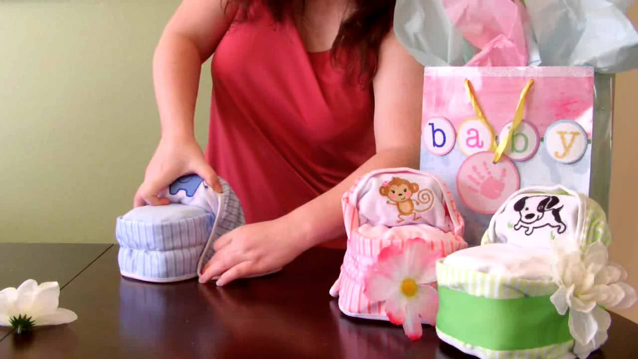 Babyshower Geschenke How To Make A Diaper Cake -small Bassinet For Baby Shower