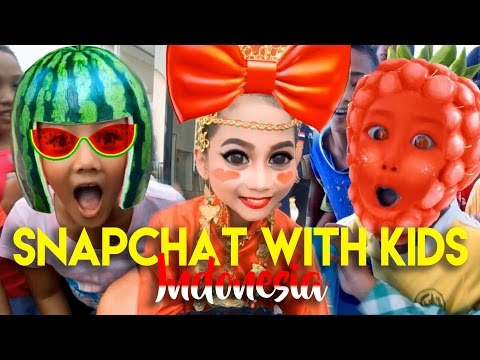 INDONESIAN KIDS REACT TO FUNNY SNAPCHAT FILTERS thumbnail