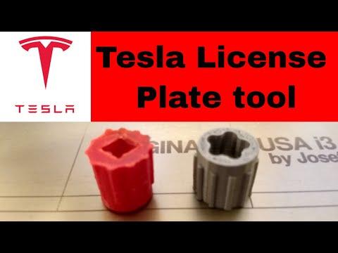 Tesla License Plate Removal Tool