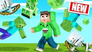 DODGE The RAINING MOBS In MINECRAFT! (Scary)