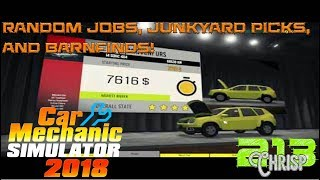 Car Mechanic Simulator 2018 | JEEP DLC | Random Jobs, parts picking, auction house fun!