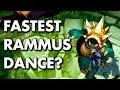 RAMMUS SUPER FAST DANCE! Test with Movement Speed!