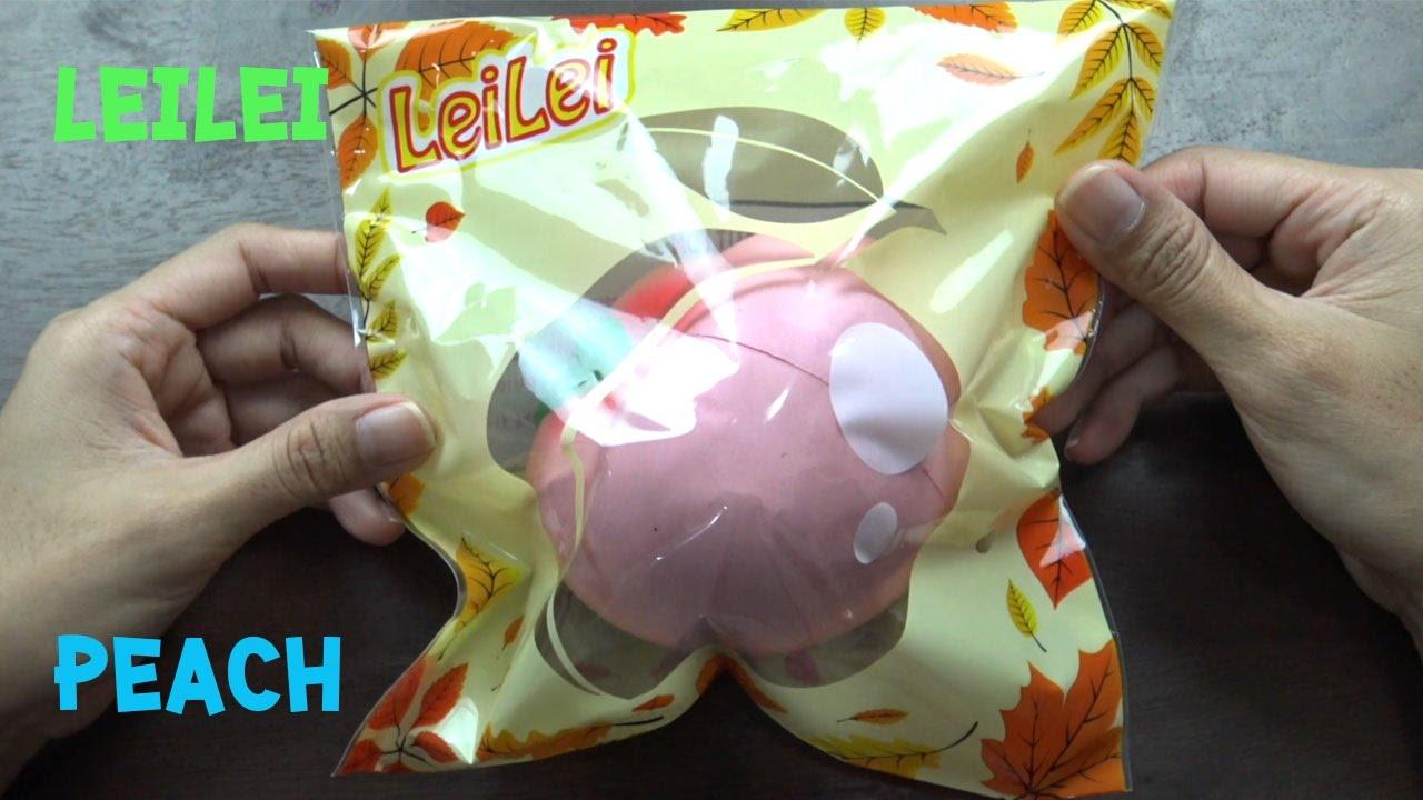 Squishy Lei Lei : LeiLei jumbo peach Squishy - YouTube