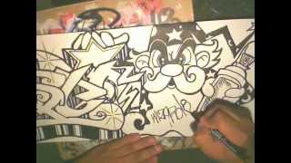Drawing graffiti name -Requested (DISCO) speed art