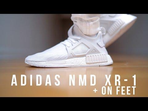 "ADIDAS NMD XR-1 ""TRIPLE WHITE"" + ON FEET"