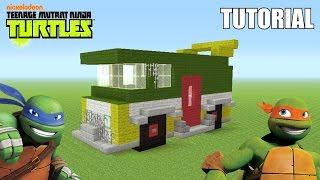 "Minecraft Tutorial: How To Make The ""Shellraiser / Party Wagon""!! ""Teenage Mutant Ninja Turtles"""