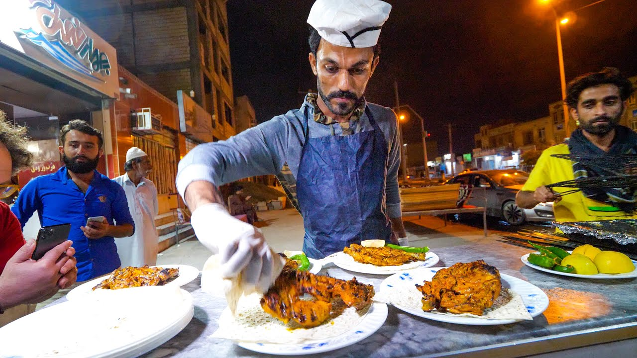 Street Food Balochistan!! | SPICY CHICKEN CHEF + Visiting MARS in Chabahar, Iran!