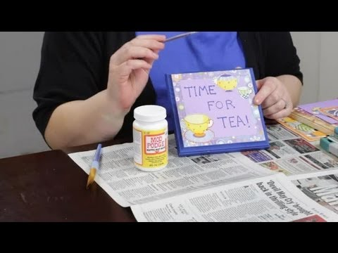 Decorating Wooden Plaques With Paint Decoupage Craft Projects
