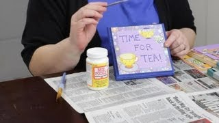 Decorating Wooden Plaques With Paint & Decoupage : Craft Projects With Paint