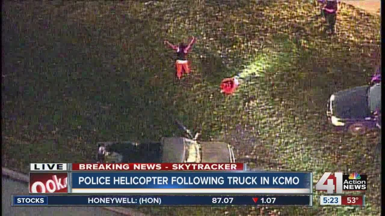 Police chase truck in east KC