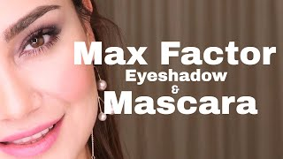New! Max Factor Eyeshadow Palette and Mascara Review