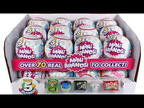 Zuru 5 Surprise Mini Brands Blind Box Full Case Unboxing Toy Review Mini Doll Foods