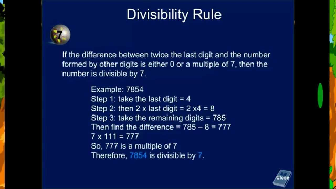 Divisibility Rule Of 7 Seven With Example Check If Number Is
