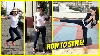 How To Style || A Basic White Tee & Skinny Jeans || 3 Ways