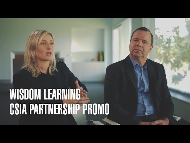 Wisdom Learning and CSIA Partnership Promo