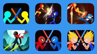 Supreme Duelist Stickman VS It's Copies (Same Gameplay & Weapons)
