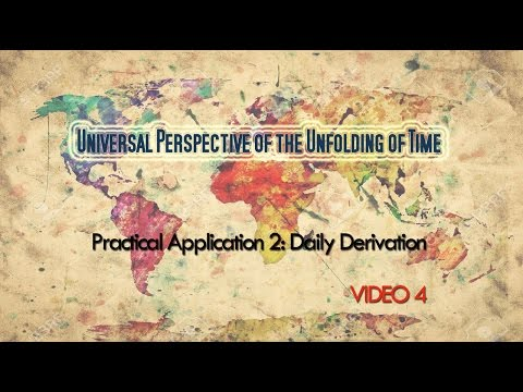 Universal Perspective of the Unfolding of Time- Video 4: Application 2- daily derivation