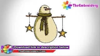 Snowman embroidery collection | Download Free Embroidery Designs