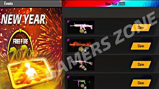 FREE GUN SKINS AND LEVEL 8 CARD IN NEW YEAR EVENT - HOW TO GET?  - Garena Free Fire