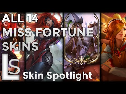 ALL MISS FORTUNE SKINS - Skin Spotlight - League of Legends - Patch 10.10