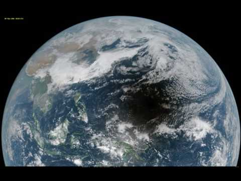 Solar eclipse shadow as seen from geostationary satellites