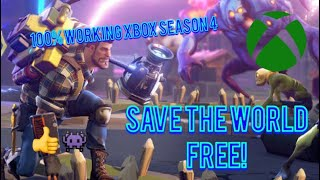 *PATCHED* HOW TO GET FORTNITE SAVE THE WORLD FOR FREE GLITCH! *WORKING SEASON 4 JUNE XBOX*