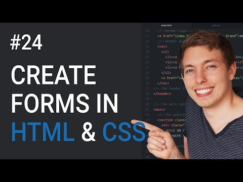 24: Forms In HTML And CSS | How To Create A Form | Learn HTML And CSS | HTML Tutorial | CSS Tutorial